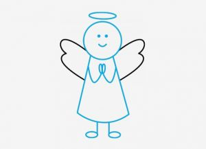 Як намалювати ангела поетапно?