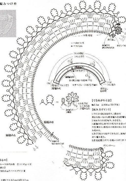 Як зв`язати ажурний комірець гачком. Прості моделі і схеми.